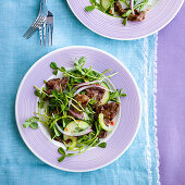 Thai Beef Salad with Cilantro and Sprouts