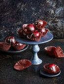 Red wine sloe chocolates