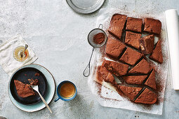 Brownies with chocolate chunks
