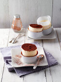 Ice cream souffle with orange liqueur