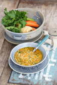 Millet and vegetable soup (five-element-cooking)