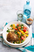 Za atar Chicken with Orange Couscous Tabouli