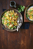 Cauliflower couscous with oranges, cranberries and cilantro