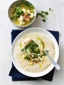 Greek lemon and chicken slow cooker soup