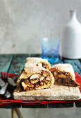 Moroccan chicken and almond pie