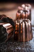 Canneles baking moulds (close up)