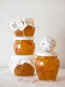 Jars of mango and chilli chutney