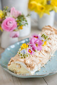 Lemon curd meringue rolls