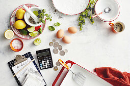 Symbol for budget breakfast ingredients