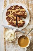 Spiced butterscotch fig pudding