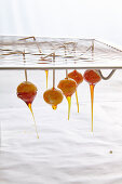 Macadamia Teardrops: Macadamia nuts glazed with caramel