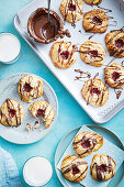Take 4: Coconut macaroons with jam and chocolate