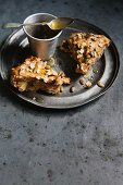 Cranberry, apple and buttermilk scones