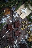 Vegan chocolate lollies