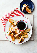 Chicken and corn potstickers