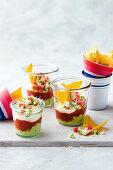 Tiny taco dipping pots