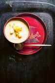 Mangopudding mit Limette (China)