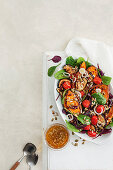 Roasted vegetable salad with fennel and chilli vinaigarette