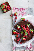 Chocolate mousse cake with berries (lactose-free)