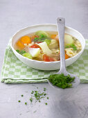 Vegetable stew with pasta