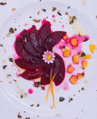 Beetroot carpaccio with oranges