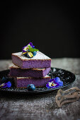 Flourless blueberry slices