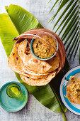 Malaysian Dhal with roti