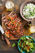 South american-style beef with salsa criolla