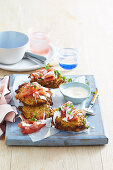 Vegetable Fritters with Smoked Salmon