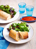 Salmon, Spinach and Rice Parcels