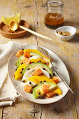 Avocado, mango and papaya salad