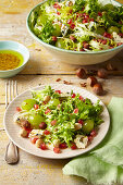 Endive salad with grapes and blue cheese