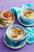 Colcannon-Suppe mit Speckstreuseln