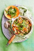 Gerstenrisotto mit Huhn und Gemüse