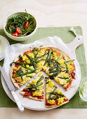 Fresh Corn, Chesse and Asparagus Pizza