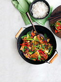 Sticky chinese pork stir-fry