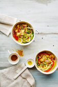 Chicken and coconut curry with vegetables (low carb)