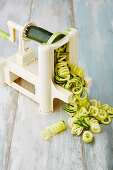 Courgettes in a spiralizer