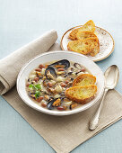 Mussel, Potato and Bean Soup