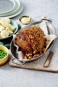 Roast Beef with Peppercorn Mustard Crust