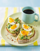 Mexican-Style egg on toast