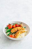 Buttermilk chicken with parmesan cauliflower mash