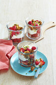 Mixed Berry and Yoghurt Muesli Parfait