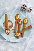 Gingerbread dipping spoons