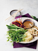 Ingredients for Vietnamese salad rolls