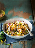 Chicken and date tagliatelle with sherry sauce