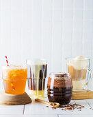 Caffe Tomic, Cold Vietnamese coffe, Tipsy Irish Moachachino and Affogato