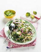 Mustard seed and bean salad