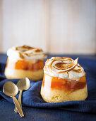 Pfirsich-Sago-Pudding