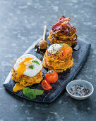 All-dressed-up corn fritters
